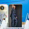 President Barack Obama departs Denver, CO