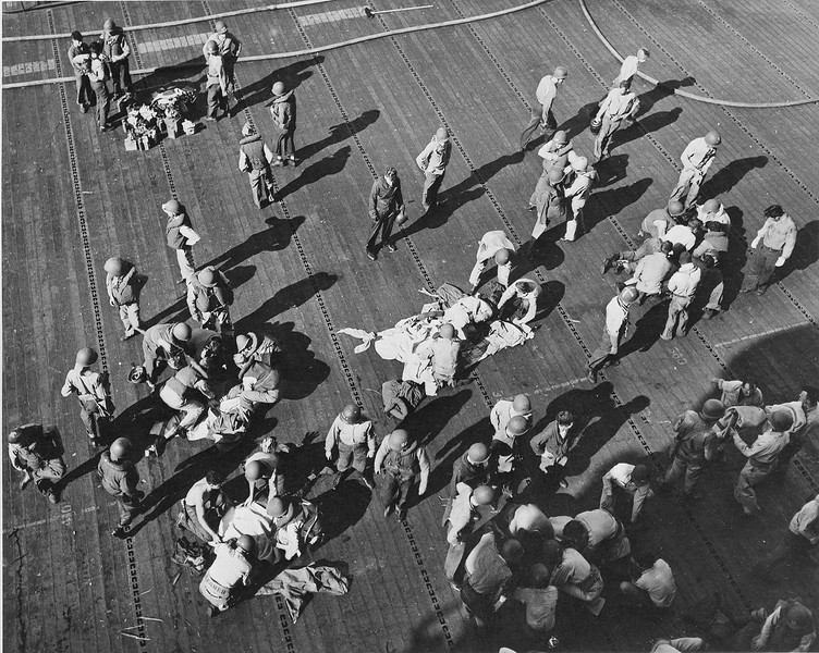 WWII USS INTREPID WOUNDED 1944