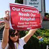 NURSES HOLD VIGIAL AT SETON MEDICAL CENTER IN DALY CITY