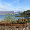 Railway and Loch Carron near Craig Highland Farm