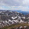 Panoramic view of the Mosquito Range (Mounts Lincoln, Bross and Democrat) from the summit of Quandary Peak; Colorado Tenmile Range.