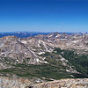 View to the northwest from the summit of Mt. Harvard, Colorado Sawatch Range