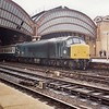 46045<br /> <br /> The 08:05 Liverpool - Newcastle at York on 15 October 1983.<br /> <br /> (0830)