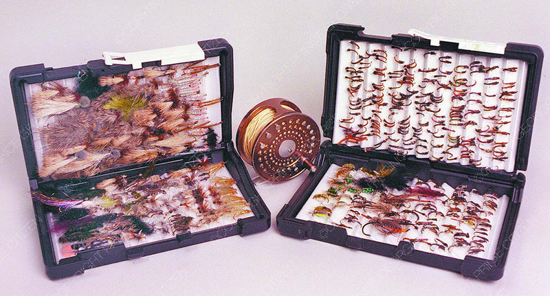 fishing flies and reel display in saturday Dave Milne jan 14 00