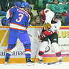 Cougars Blazers Jan3-2/Thursday Brent Braaten-Jan 3/2001  Blazers Nikita Korovkin and Cougars Tomas Tesarek.