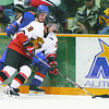 Cougars Blazers Jan3/Thursday Brent Braaten-Jan 3/2001  Cougars  Blake Robson and Blazers Mark Rooneem.