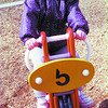 Playground/Spring/Tuesday Brent Braaten-April 14/2001  Samantha Scott, 3 at the Rotary Playground in Fort George Park.