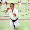 Alex Camarda karate champ in monday dave milne aug 18 01 Alex Camarda leads a class at Zion Lutheran Church Saturday