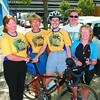lung association  cyclists in friday dave milne aug 15 02 cyclists travelling for Lung Assoc8iation  Doris DeLong, left, Sharon Morland, Dorrie Sharcott, Stacey Spicer, Rosanne Lewis