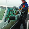 Lock it or lose It2/Monday Brent Braaten-Nov 30/2002  The Prince George RCMP Crime Prevention Unit's 'Lock it or Lose it' program staged a mock theft from vehicle Saturday morning in the Wal-Mart parking lot to show how quickly thiefts can break into a car and remove valuble items and shopping parcels from vehicles during the Christmas Holiday Season. Police along with ICBC are asking for the publics help to lock your vehicles at all times and if unattended, to make sure that no valuables are visable from the outside.