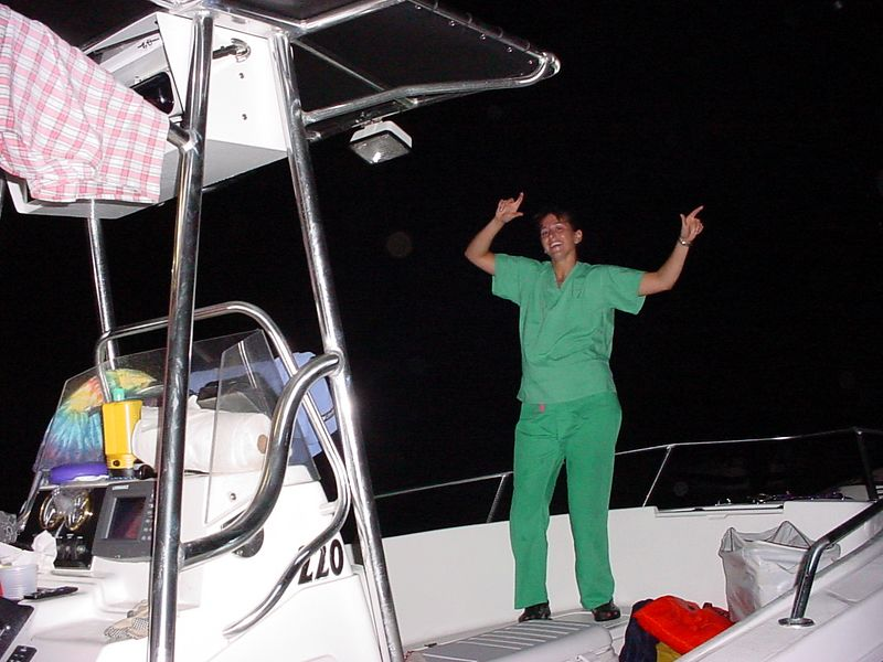 41 Jojo dancing on the boat