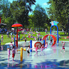 roteract water park busy in friday dave milne june 5 03 Chlidren and parents enjoyed a sunny day at the Roteract Water Park in Fort George Park Thursday. Temperatures in the 20s made the water less brisk and more refreshing for the screaming children.