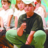Once upon a Lily Pad/Thursday Brent Braaten-June 25/2003  Students from Central Fort George Traditional School put on the Musical Once Upon A Lily Pad Wednesday morning for students and parents. Michael Hook plays the role of Papa Frog.