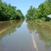 Highway just a bit flooded