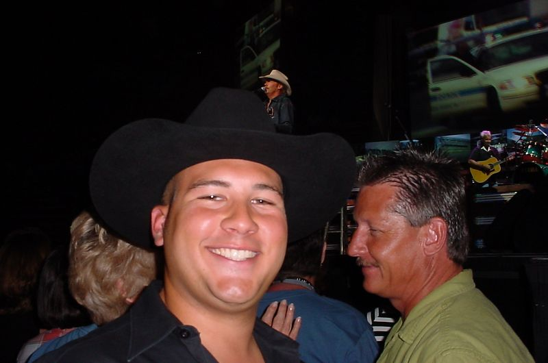55 - Gabe having fun with Alan Jackson