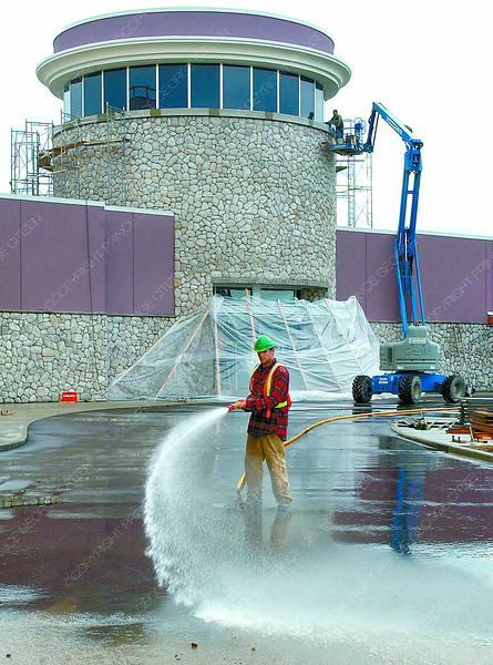 casino hosed down for opening in wedensday dave milne sept 14 04 Kody Thibault hosed down the Pavement in front of the Trasure Trove Casino while contractors put the finishing touches to the exterior. The casino opens Thurasday
