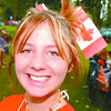 Canada Flag Hair Piece/Canada Day 2005/Saturday Brent Braaten-July 1/2005  Kirsten Bigelow wears a flag in her hair.