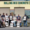 Rolling Mix Strike/Tuesday Brent Braaten-Aug 21/2006  Teamsters on strike at Rolling Mix Concrete Monday. The picket line went up Monday morning.
