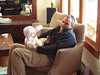 Uncle Glenn with baby Katie from Calgary
