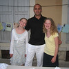 Clara and Jessie with their sports teacher, M. Gabrielli.