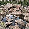 Boulder field at the outlet of Lake Haiyaha<br /> Rocky Mtn. National Park, CO
