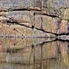 Mills Lake Reflection - Precambrian Metamorphic<br /> Rocky Mountain National Park, CO