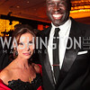 Real Housewives of DC's Lynda Erkiletian, Ebong Eka. The 32nd Annual Ambassadors Ball. Photos by Alfredo Flores.