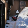 Second step - use a Honda motor to blow the snow off the deck.