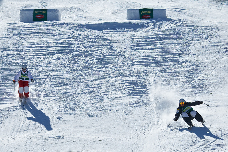 2011 USSA Freestyle National Championships at Stratton Mountain, VT. Dual Moguls.