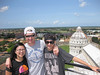 On top of the Leaning Tower of Pisa