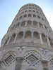 Looking up at the Leaning Tower of Pisa