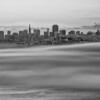 I just loved the smooth fog under the city and had to zoom in closer  Black and White version