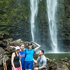 Practice attempt of our group shot at Hanakapi'ai Falls