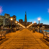 Blue hour pier -- focused on the Transamerica building. Nice light-stars too!