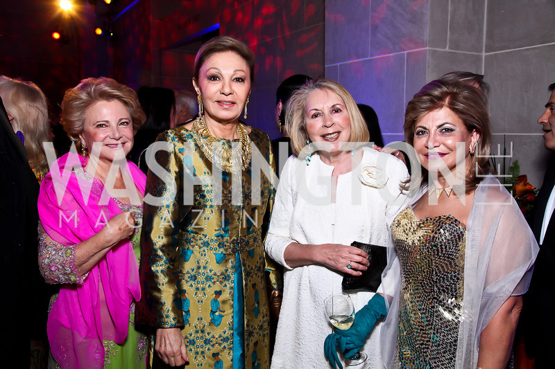 Mary Mochary, Empress Farah Pahlavi, Gilan Corn, Annie Totah. Photo by Tony Powell. Freer|Sackler 25th Anniversary Gala. November 29, 2012