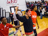 2013, Students turned out for Red Hawk Madness to kick off the mens and womens basketball season.