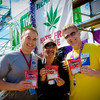Seattle Police Department Spokesman, Hempfest Director Vivian McPeak, and Seattle City Attorney Pete Holmes.