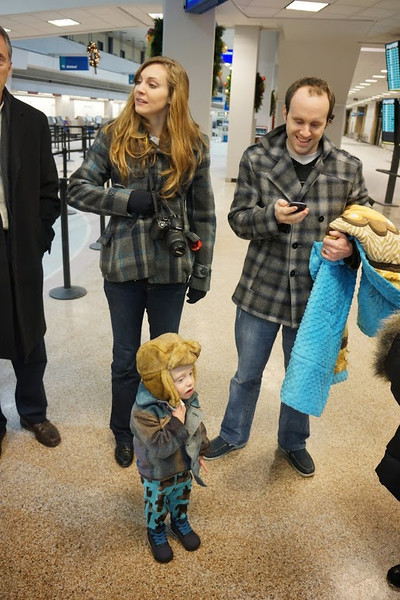 Heather, Henry, Kevin - matching coats