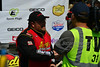 Terry Phillips in Victory Lane interviewed for TV