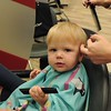 Jack and Bernice's first haircuts