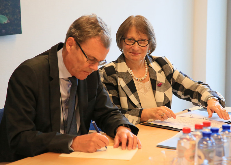Ambassador Atle Leikvoll and Minister Counsellor Aud Hellstrøm, Mission of Norway to the EU (Photo: EFTA)