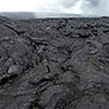 Crazy lava formations. Looks like something exploded out over on the left.