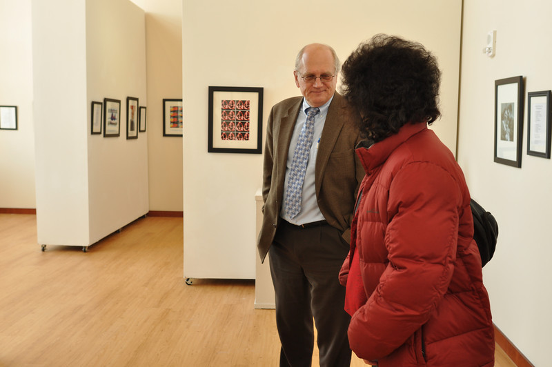 Joseph Gascho, feautrued artist, talks with Dr. Sparti of GWU about his art and life work.