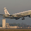 "Boeing RC-135U 64-14847 55th Wing, Offutt AFB, NEBRASKA Departing back to the U.S.A. as ""COBRA 56"""