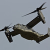 CV-22B Osprey 11-0059 7th SOS, RAF Mildenhall, UK Departs in the high winds