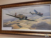 Painting depicting the first engagement of a Polish airman in a Hurricane and a Luftwaffe Me.110