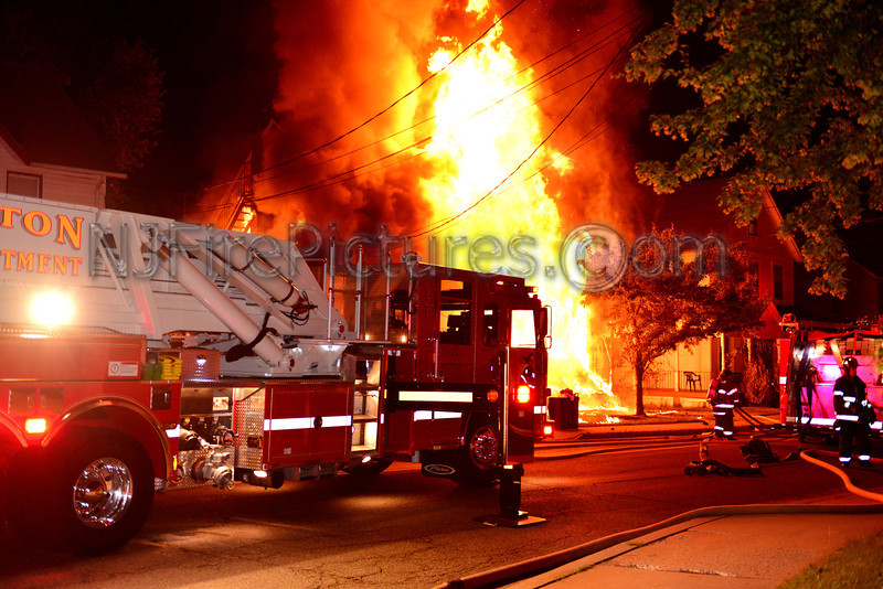 WHARTON, NJ WORKING FIRE - 15 EAST DEWEY AVE. JUNE 17, 2013