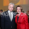 Michael Douglas, Leader Nancy Pelosi. Photo by Tony Powell. Ploughshares Fund Gala 2013. Institute of Peace. October 28, 2013