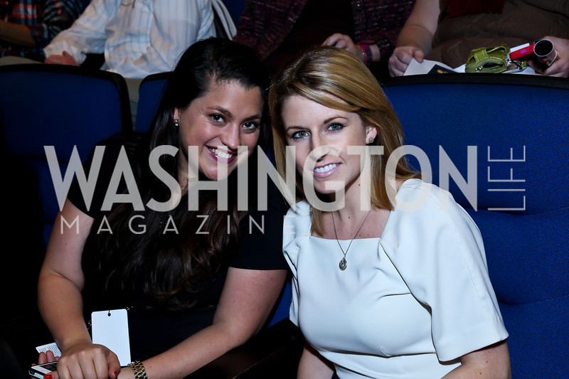 Ashley Codianni, Julie Eckert. Photo by Tony Powell. Anchorman II Q&A. Newseum. December 3, 2013