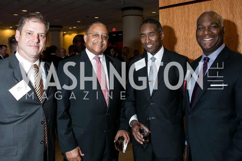 Don Schilpp, Gerald Harvey, Cedric Sheridan, Larry Duncan. Photo by Alfredo Flores. Boys and Girls Club of Greater Washington Tim Russert Dinner. JW Marriott. May 22, 2013
